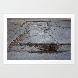 Grungy Curb Art Print