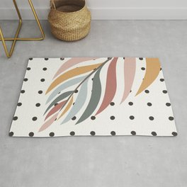 Colorful Palm Branch Rug