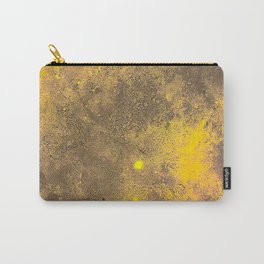 Yellow Painted on Concrete Carry-All Pouch