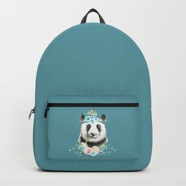 Watercolor Floral Spray Boho Panda Backpack