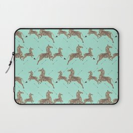 Royal Tenenbaums Zebra Wallpaper - Seafoam green Laptop Sleeve