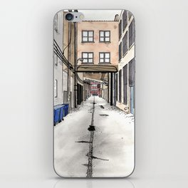 Alley in Ravenswood, Chicago iPhone Skin
