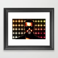 Flashing Lights Framed Art Print