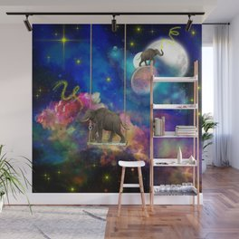 Space elephants Wall Mural