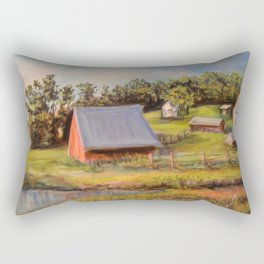 Nestled in the Farmland Rectangular Pillow