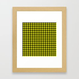 Classic Yellow Country Cottage Summer Buffalo Plaid Framed Art Print