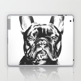 Black And White French Bulldog Sketch Laptop & iPad Skin