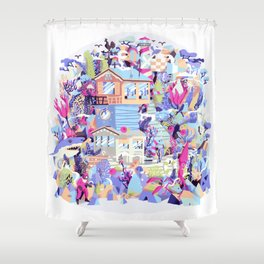 Shipwreck Shower Curtain