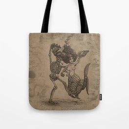Dancing Mermaid and Skeleton Tote Bag