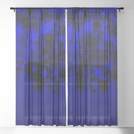 paint splatter on gradient pattern db Sheer Curtain