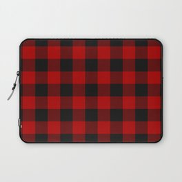 Red and black squares plaid print Laptop Sleeve