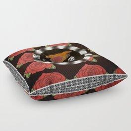 SKULLANDFLOWERS Floor Pillow