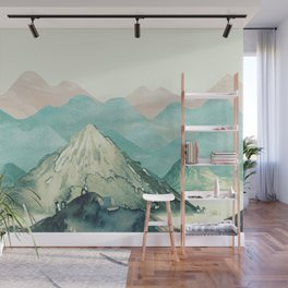 Mountains Landscape Watercolor Wall Mural