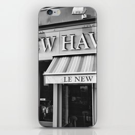 Le New Haven Restaurant - Black and White Version iPhone Skin