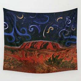 Uluru by Night Wall Tapestry