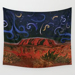 Uluru by Night Wall Tapestry