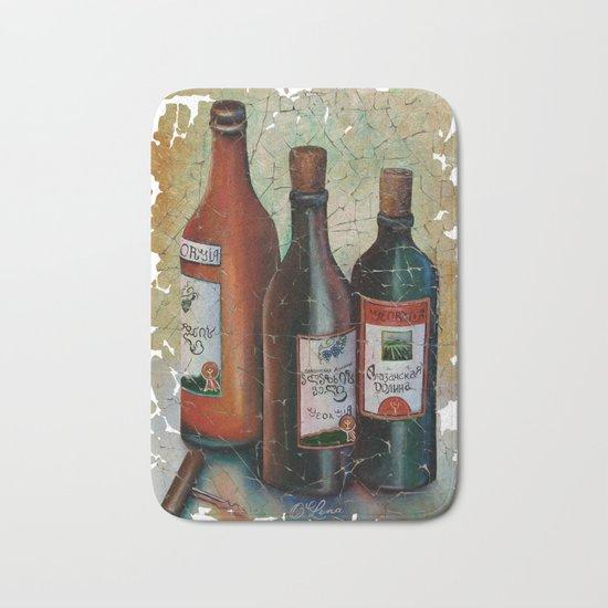 Vintage Georgian Wine Fresco Bath Mat
