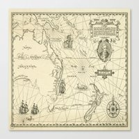 world maps Canvas Prints featuring Old Maps by tanduksapi