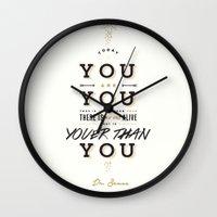 dr seuss Wall Clocks featuring Dr. Seuss by thatfandomshop