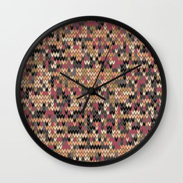 Heathered knit textile 2 Wall Clock