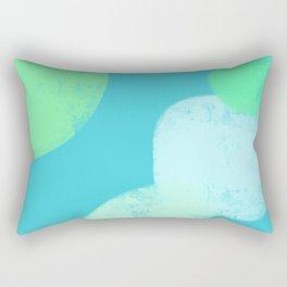 Let's Appreciate Our Shapes no.14 - blue minimal art Rectangular Pillow