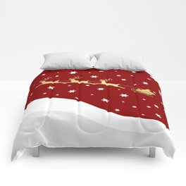 Red Christmas Santa Claus Comforters