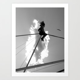 """Playing with seagull"" Art Print"