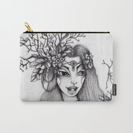 JennyMannoArt Graphite Illustration/Giselle the woodland fairy Carry-All Pouch