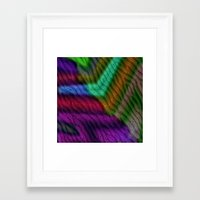 knit Framed Art Prints featuring Knit by RingWaveArt