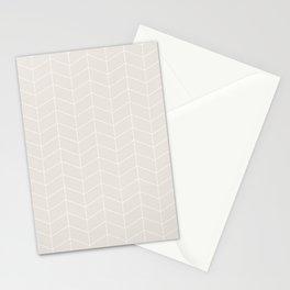 Herringbone Beige Stationery Cards