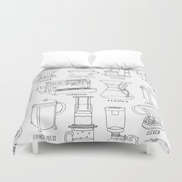 Coffee Brewing Duvet Cover
