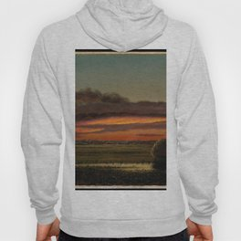 Sunset Over The Marshes 1904 By Martin Johnson Heade | Reproduction Hoody