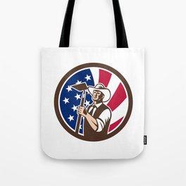 American Organic Farmer USA Flag Icon Tote Bag