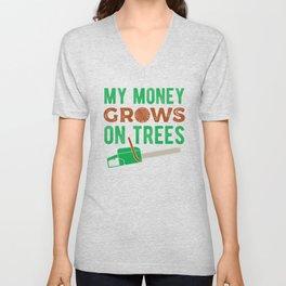 Arborist Funny Unisex V-Neck