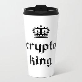 Crypto King Gothic Metal Travel Mug