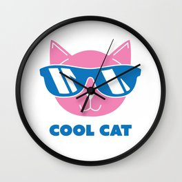 Animals Cool Cat in Sunglasses Shades Wall Clock