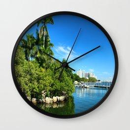 Key Biscane Bay Wall Clock