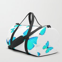 NEON BLUE BUTTERFLIES MIGRATION FROM  SOCIETY6 Duffle Bag