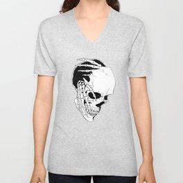 Skull (Creeping Hands) Unisex V-Neck