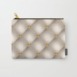 Luxury Tufted Gold Diamond 5 Carry-All Pouch