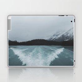 Maligne Lake Boating   Landscape Photography By Magda Opoka   Minimalism Laptop & iPad Skin