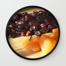 Apricots and cranberries Wall Clock