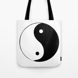 Yin and Yang BW Tote Bag