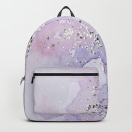 Pastel Glitter Watercolor Painting Backpack