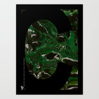 Art Print featuring Marble Dream Letter C by Joshua Fuller