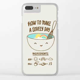 How to make a lovely day Clear iPhone Case