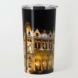 Parliament building in Budapest, capital of Hungary. Travel Mug