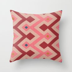 Kilim in pink Throw Pillow