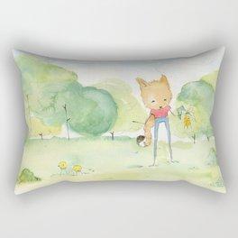 Fox in the park Rectangular Pillow