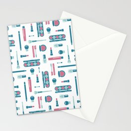 Cosmetic Items Repeating Pattern Stationery Cards